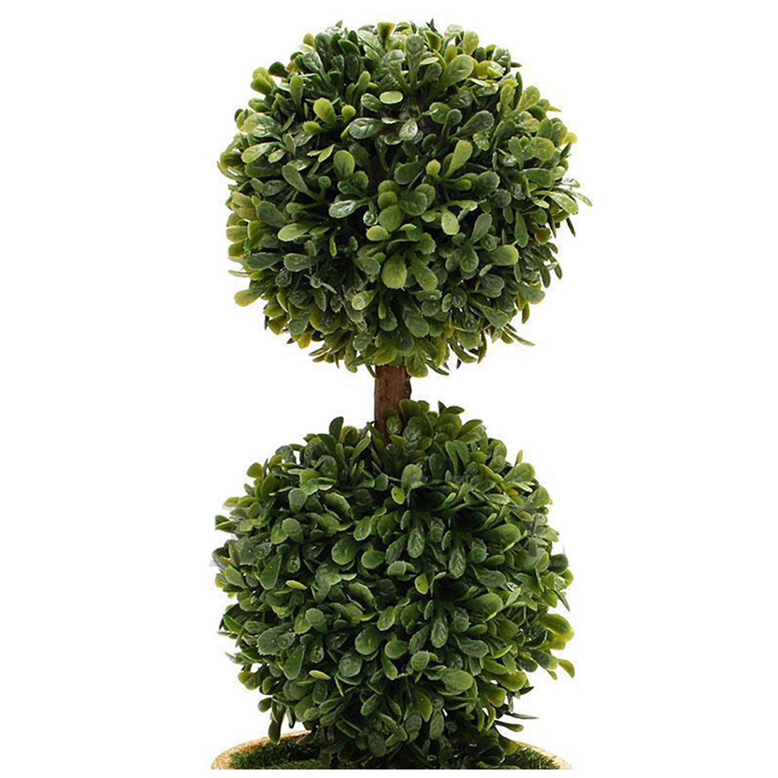 Artificial Plastic Trees In Pots Plant Potted Decor Garden Yard Two ...