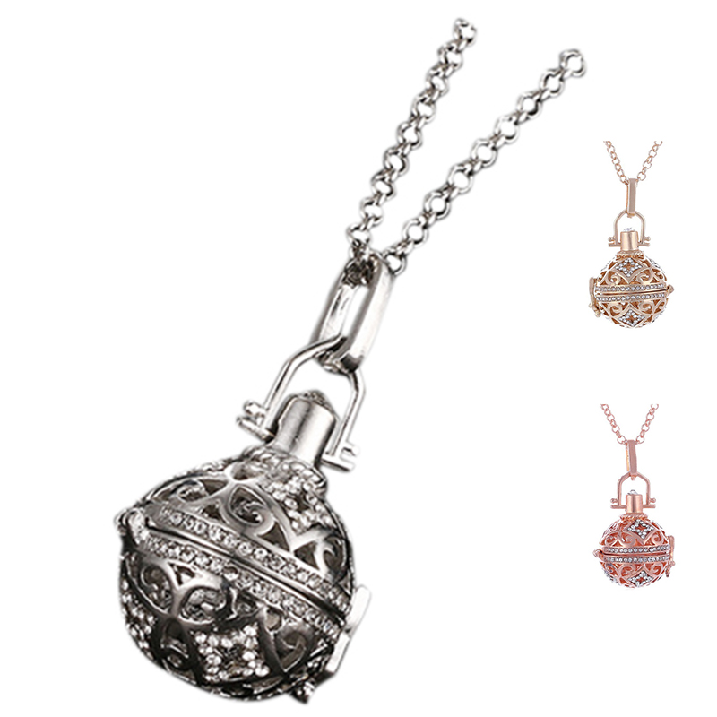 Ball pendant long musical sound harmony ball necklace silver e1y7 image is loading ball pendant long musical sound harmony ball necklace aloadofball Image collections