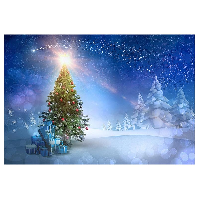 7x5ft blauer Himmel Weihnachten Fotografie Hintergrund Schnee ...
