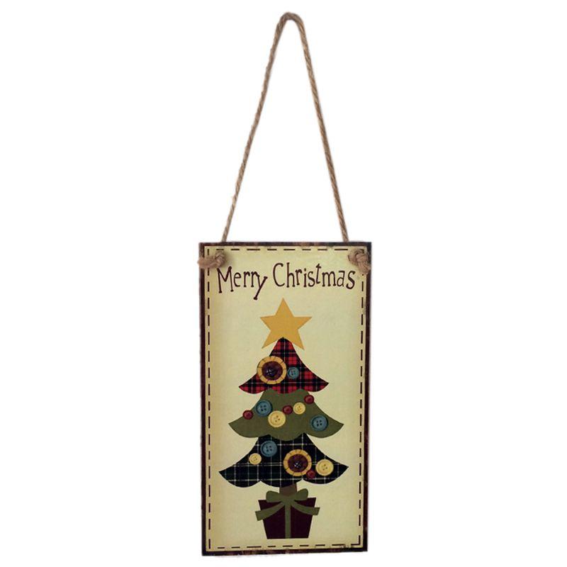 Frohe Weihnachten Rechteck Haengende Wand Zeichen Dekoration ...
