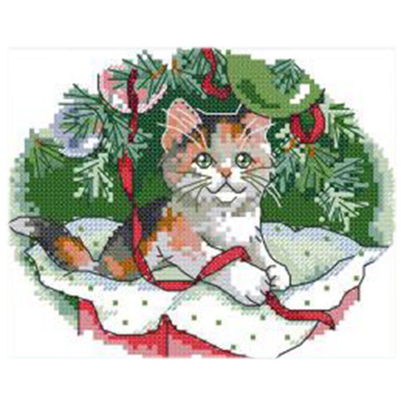 Gedruckt Weihnachten Katze Kreuzstich 11CT DIY Nadel Hochzeit ...