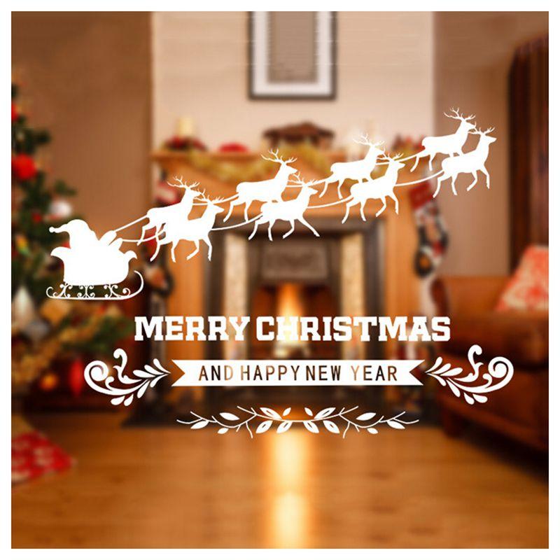 Frohe Weihnachten Fenster Aufkleber Glas Aufkleber Weihnachten ...