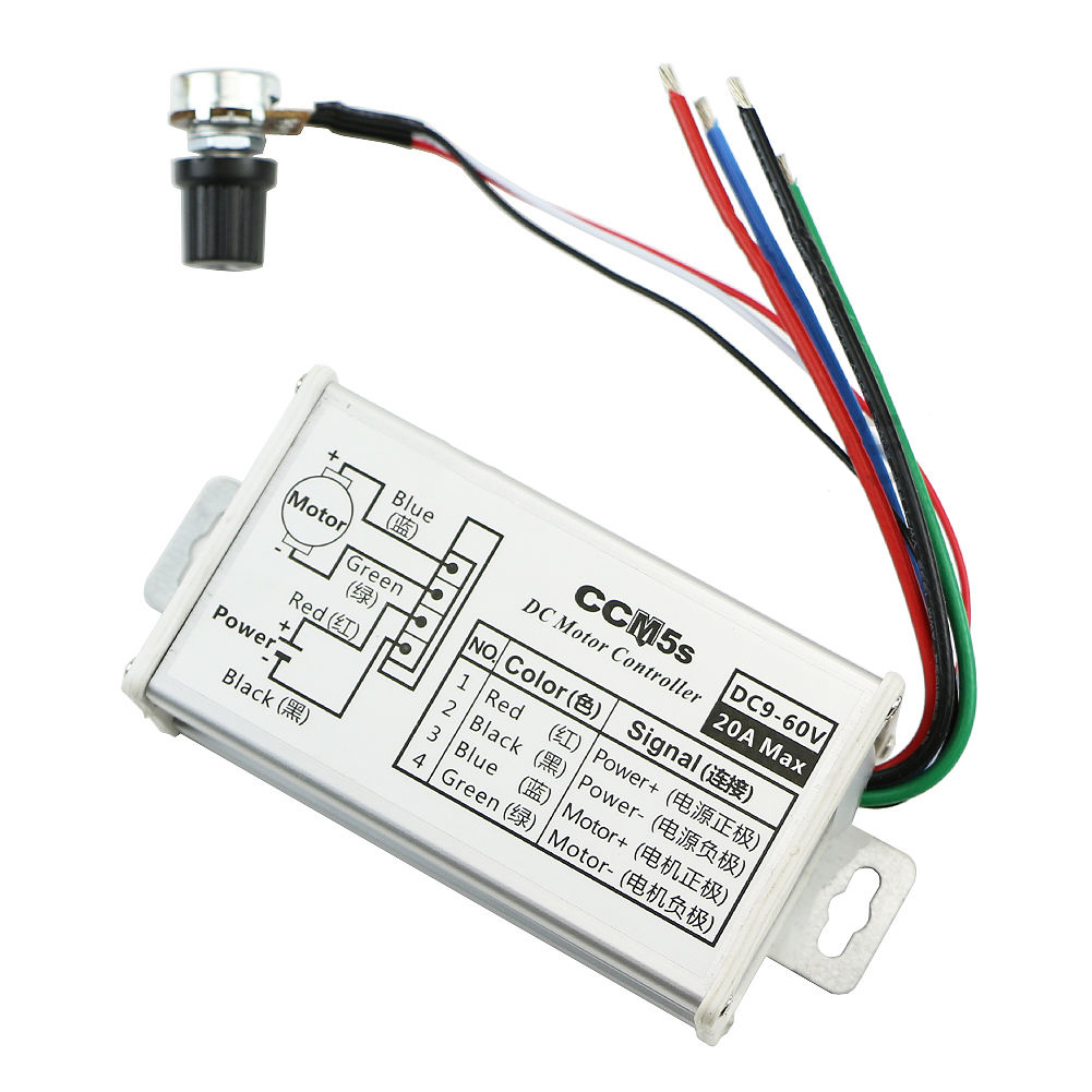 Pwm Dc 9-60v 20a 1200w 25khz Motor Speed Controller Speed Regulator Switch Consumer Electronics