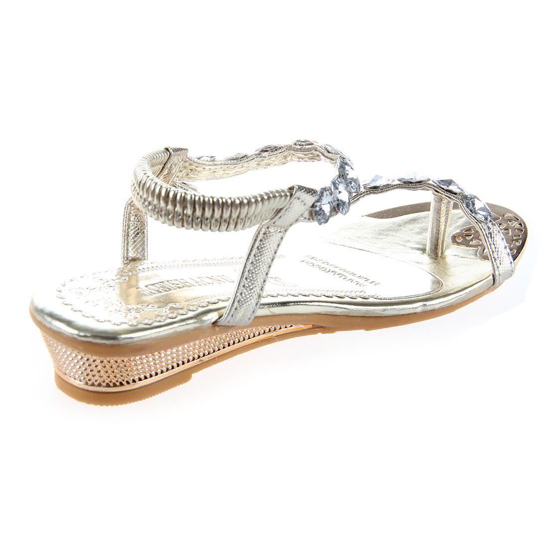 1-pair-Womens-Sandals-Ladies-Low-Heel-Sparkling-Shoes-Rhinestone-Diamante-F-L3D7