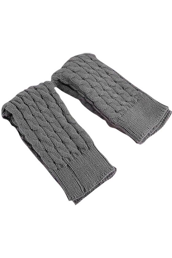 Calcetin Leotardo Calentadores de pierna Cubierta de bota tejida de ...