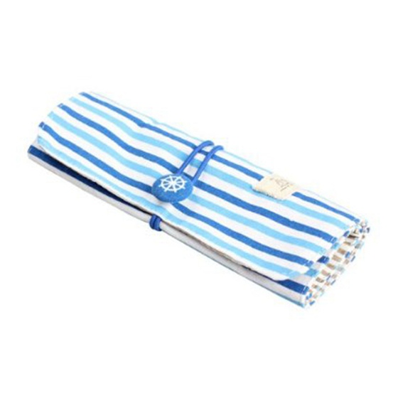 5X-Fashionable-Navy-Wind-Stripe-Canvas-Storage-Pen-Bag-Makeup-Cosmetic-Bag-B1R3