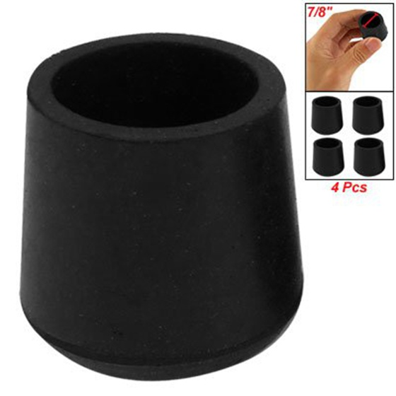5X-U-New-Practical-Rubber-Black-Table-Chair-Leg-Foot-Covers-Floor-Protector-4-Pc