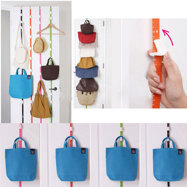 Over-Door-Straps-Hanger-Adjustable-Cap-Hat-Bag-Clothes-Coat-Rack-Organizer-V8P9