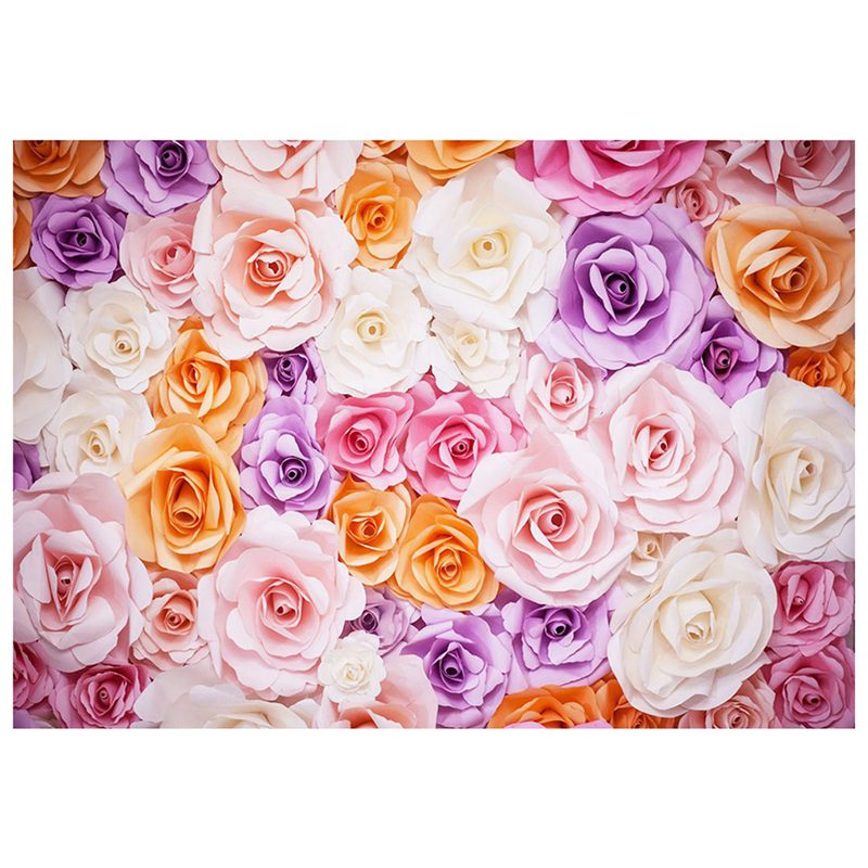 7x5ft photography backdrop 3d color paper flower wall gorgeous image is loading 7x5ft photography backdrop 3d color paper flower wall mightylinksfo
