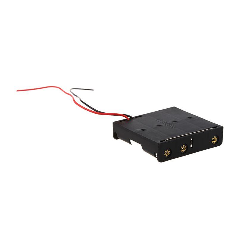 2Pcs Black 4 x 1.5V AA Battery Holder Storage Case Box w Wire Leads ...