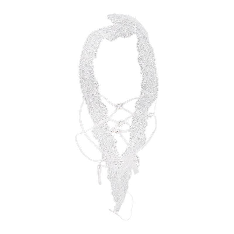 Lenceria-Sexy-Mujer-Ropa-Interior-Vestido-encaje-Cuello-halter-Juego-ropa-doJ2O5