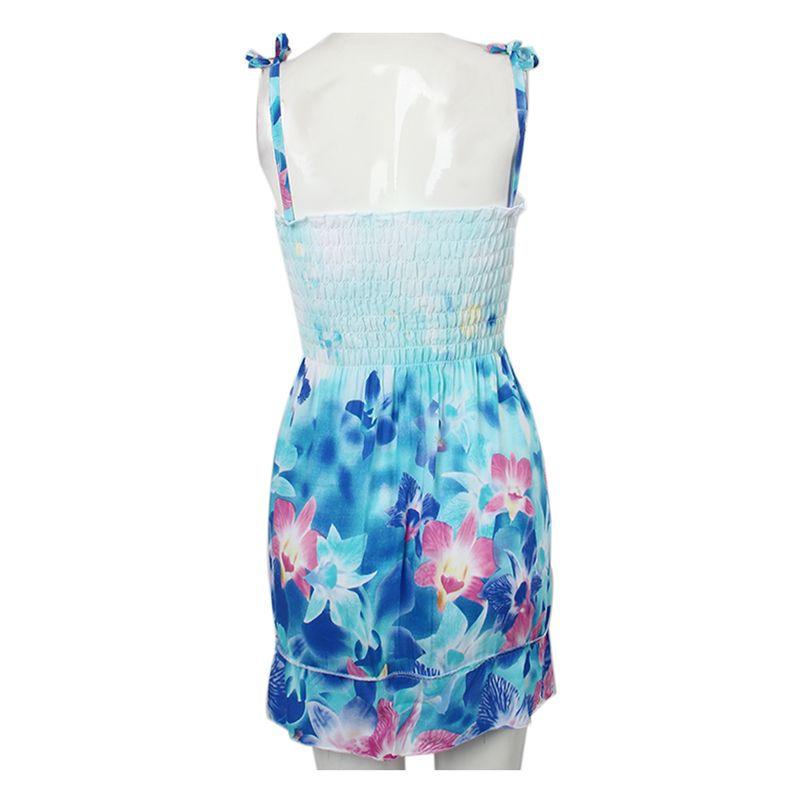New summer style girls dresses Fashion Knee-length beach dresses for girls s 7D4