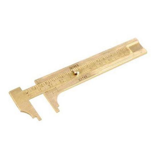 New 4 inch (100mm) Solid Brass Vernier Caliper Z2P6