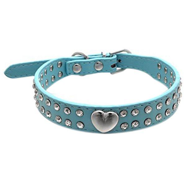Pet-PU-Adjustable-Rhinestones-Heart-Dog-Collar-for-Small-or-Medium-Pet-M-Bl-M5A4