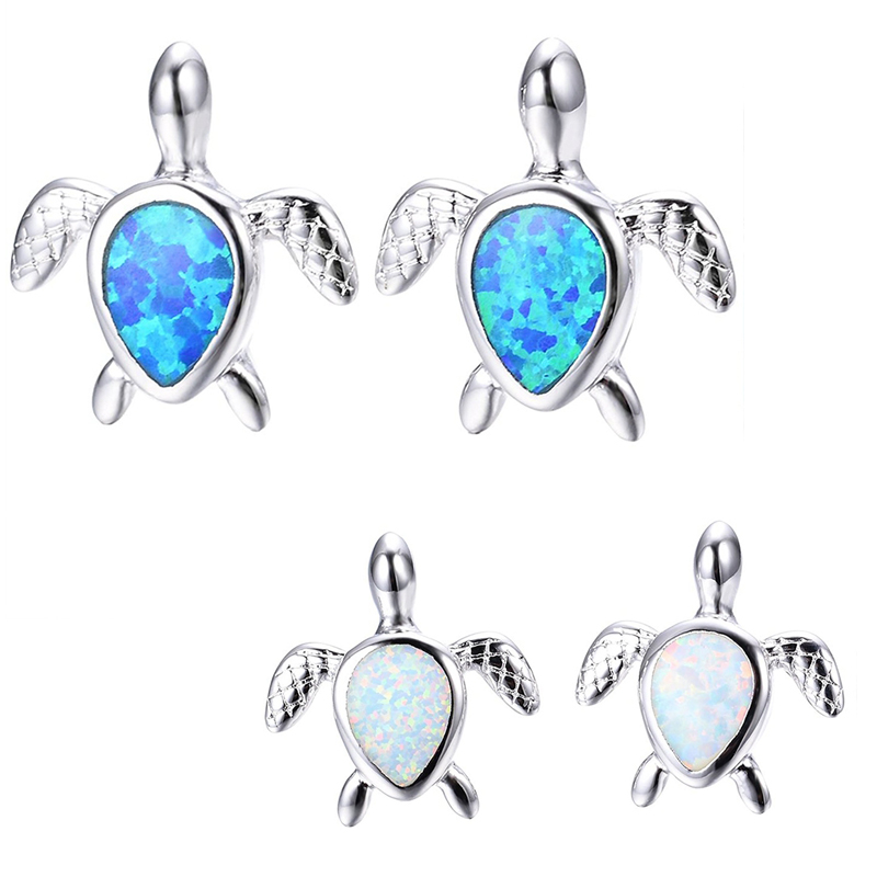 Girls-Opal-Turtle-Studs-Promise-Wedding-Best-Friend-Party-Stud-Earrings-for-F4W1