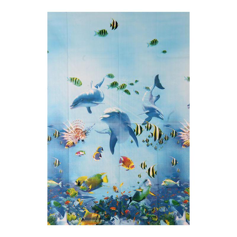 O4D2 Rideau de douche impermeable a l/'eau de bain Tissu rideau Sea Life