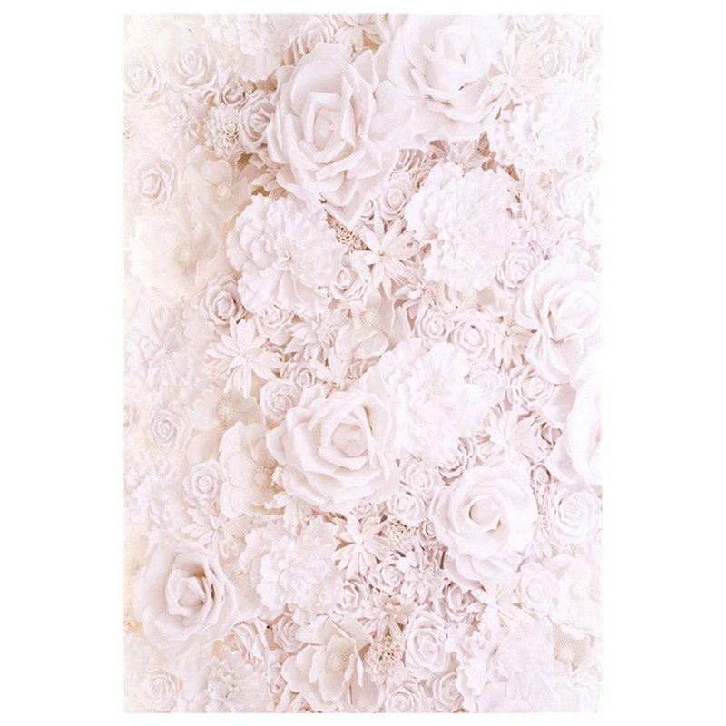 2X(5x7FT Backdrop Baby Flower Wall Vinyl Photography Props Studio Background A9)