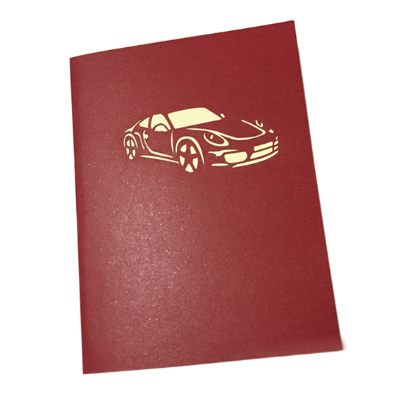 Handmade 3d Pop Up Sports Car Birthday Cards Creative Greeting Cards