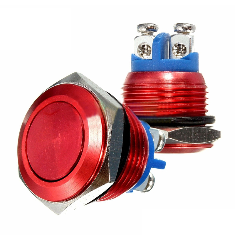 16mm-RED-Water-Proof-Starter-Switch-Boat-Horn-Momentary-Button-Stainless-Stee-JV
