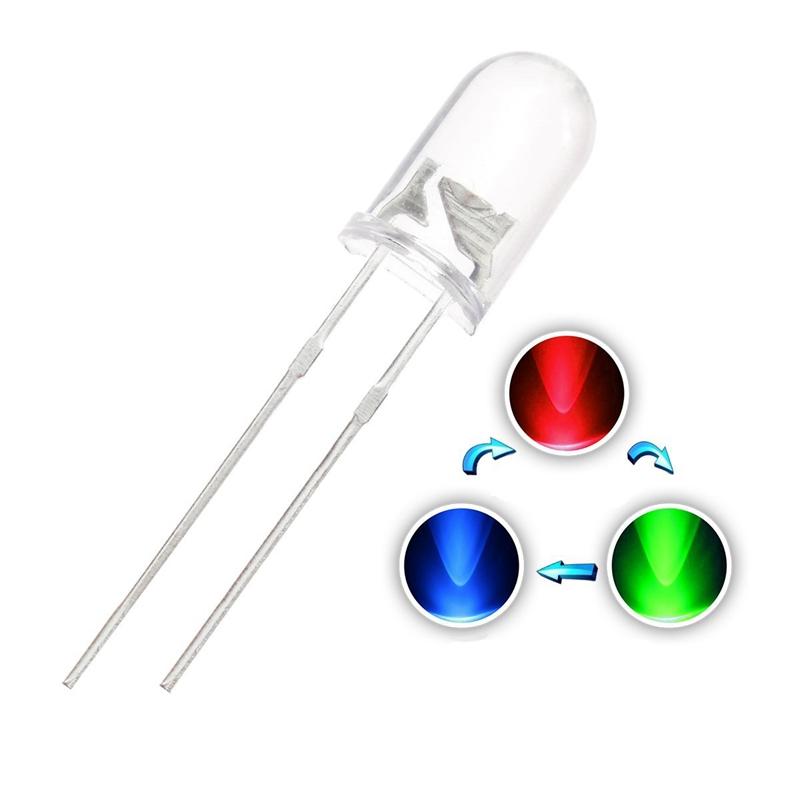 100 pcs 5mm LED Diode Lights Bulb Lamps Electronics Components Light Emittin 2I3