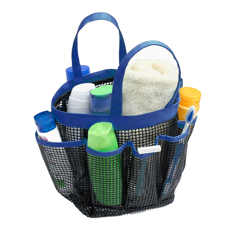 New portable mesh shower caddy carry organiser 8 side pocket storage ...