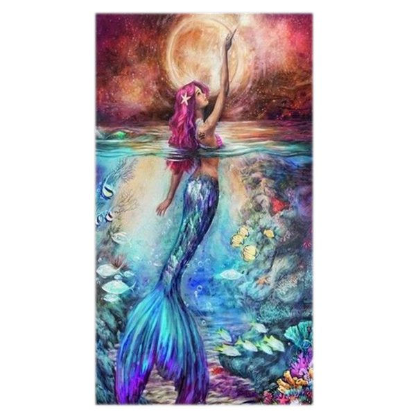 5D Diamond Embroidery Painting Mermaid Cross Stitch DIY Craft Home Office Dec D6 192090559923