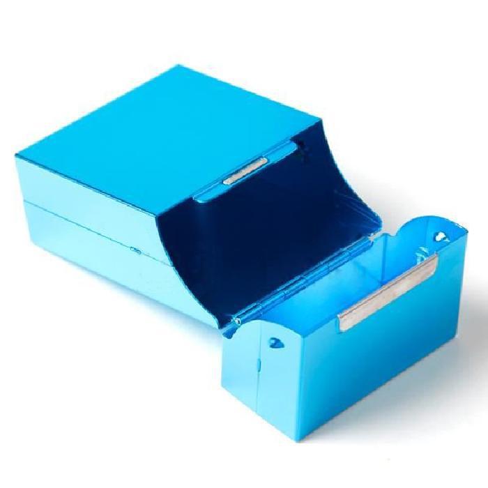 Sky Blue Box in Aluminum Alloy / Cigarette Case for 20 Cigarettes P8L5