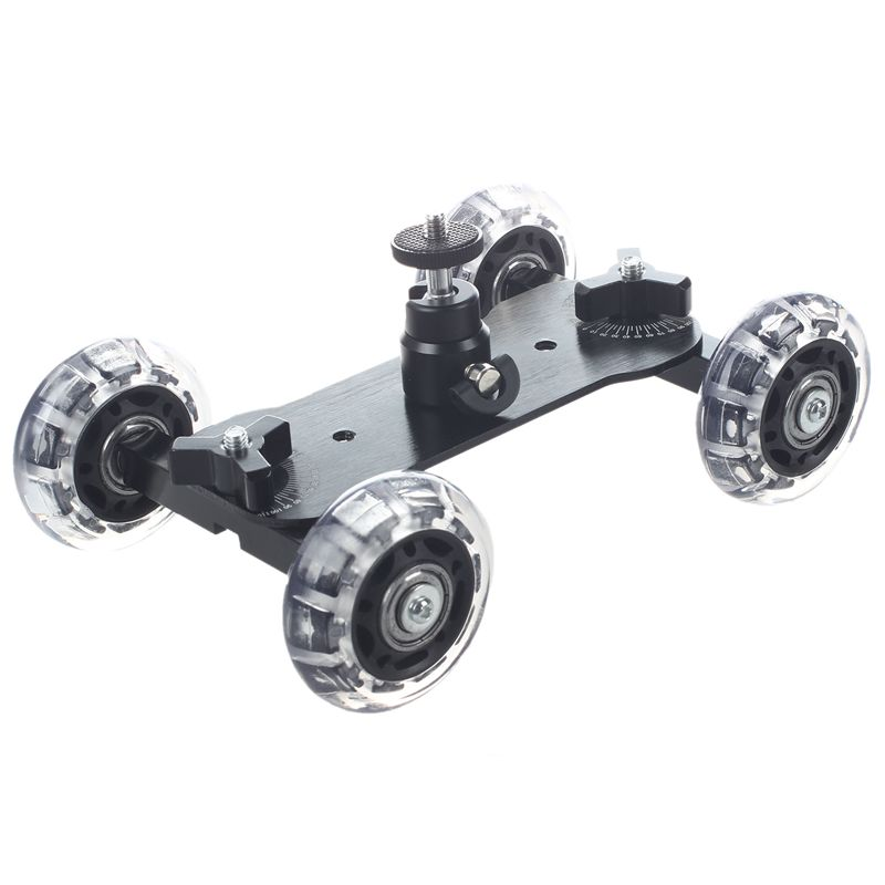 1X(Dolly Skater de Mesa Compacta de Tripode Con mini Rotula Carro de CamaraV1Q1)