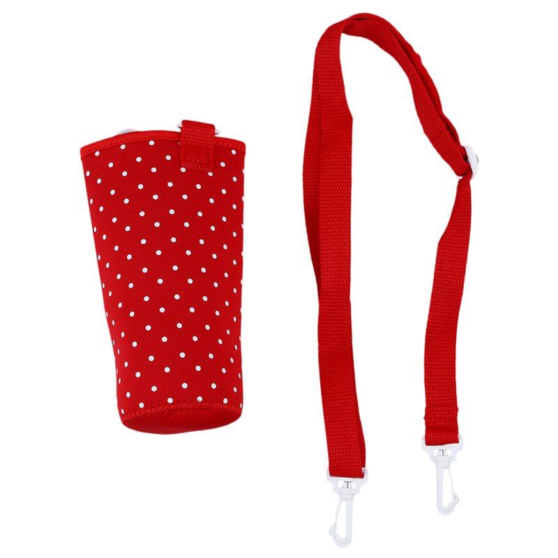 500ML Water Bottle Waterproof Pouch Shoulder Strap Cover V7I9