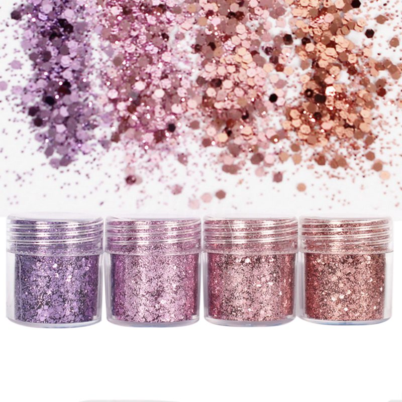 4Pots Sequins Glitter Dust Powder Paillette Tips Nail Art Decor D8O7 ...
