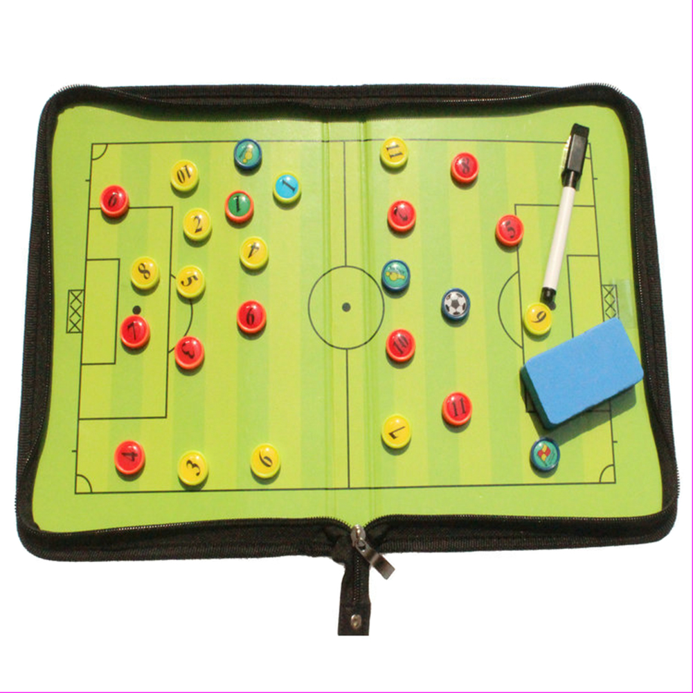 Football/Soccer Coach Magnetic board Winning strategy board with Marker pieces