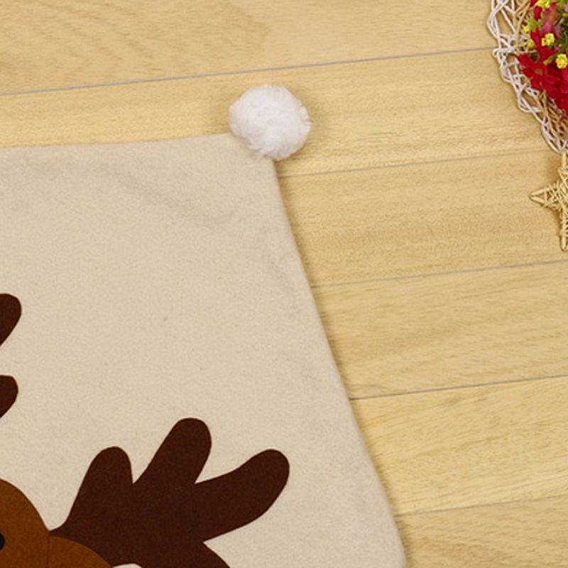 4PC-Silla-De-Ciervo-Sombrero-cubre-silla-de-cena-de-Navidad-Decoracion-Navidad-conjuntos-Reno-J2H4 miniatura 8