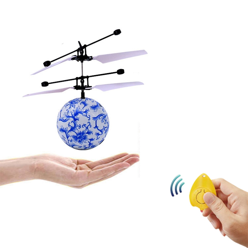 8X(Fantastic Infrared Induction Drone Flying Flash LED Lighting Ball Helic I3X5)