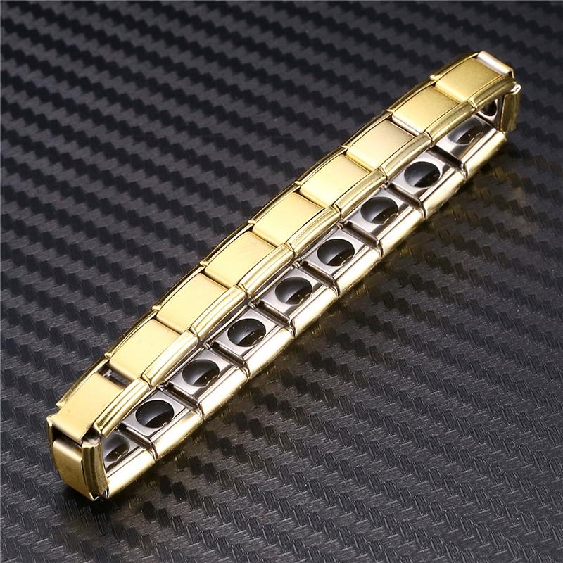 Bracelet élastique en acier pour hommes femmes bracelet de santé énergétiqueGc