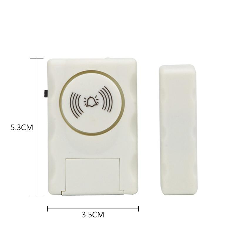 3X Fitness & Jogging Modische Tuer und Fenster Alarmanlage Einbrecher Sensor, um Diebe zu ver C1A1