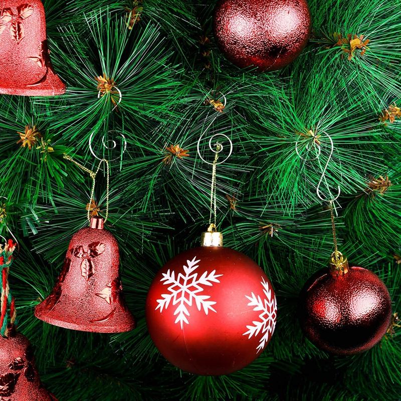 120 Pieces Christmas Ornament Hooks S Shape Hanger Hooks Swirl Scroll Ornam M5Y7