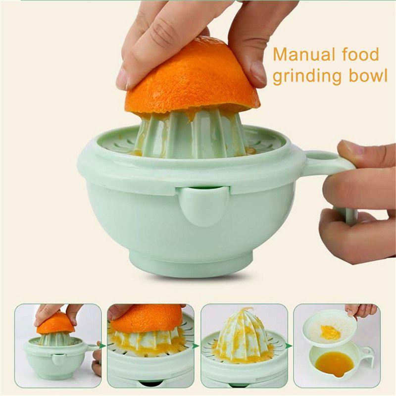 1X(9 sets of baby food supplement grinder manual food grinding bowl baby puD6N7)