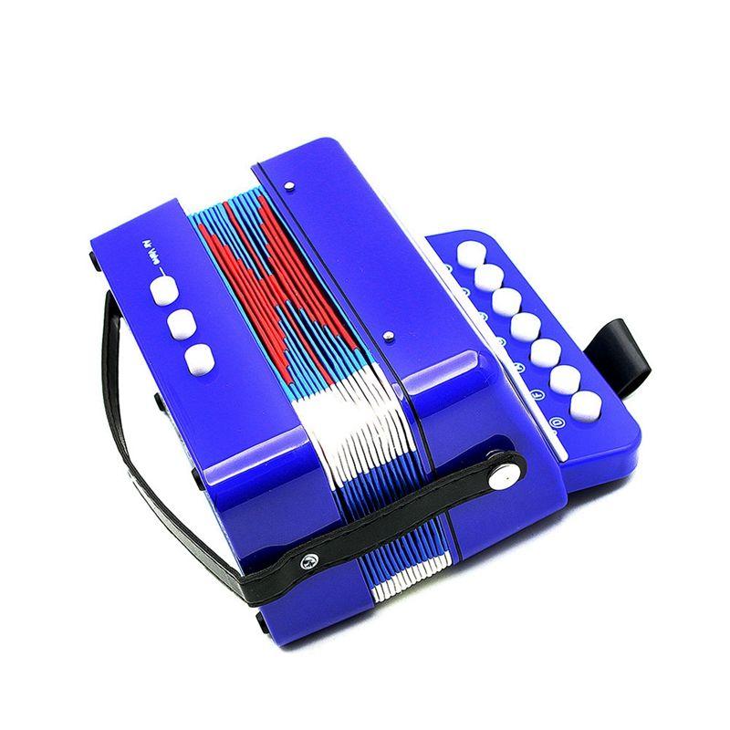 Mini kleine Kinder Tastatur Akkordeon Rhythmus paedagogisches Musikinstrume A3R4