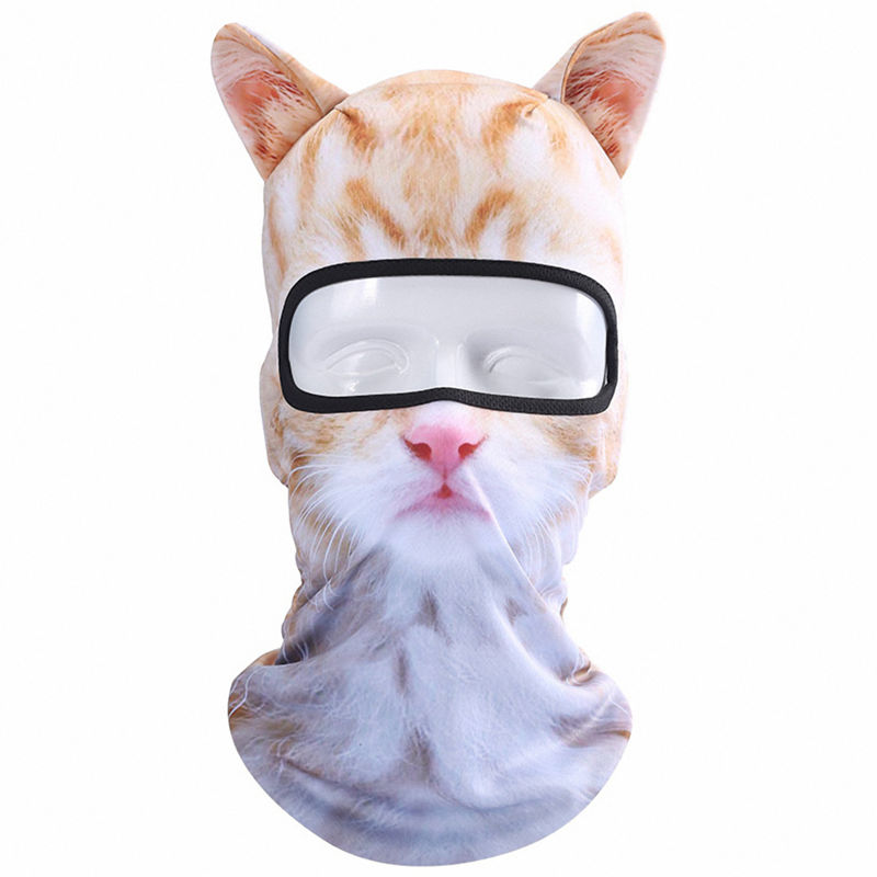 10X(3D Animal Ears Balaclava Breathable Windproof Face Mask for Outdoor Sp G7L8)