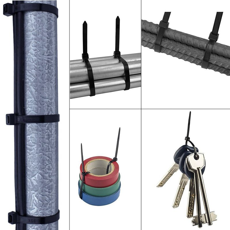 Nylon UV Stabilised V9J8 1000 x Bulk Cable Ties Zip Ties Black 4.8mm x 300mm