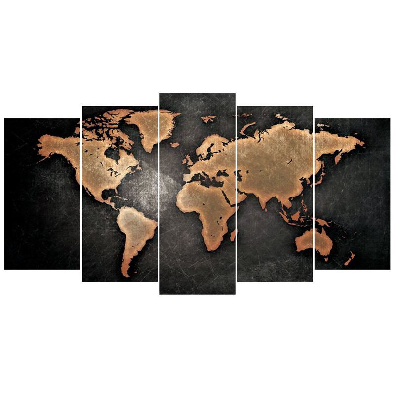 5 pcsset modern abstract wall art painting world map canvas image is loading 5 pcs set modern abstract wall art painting freerunsca Images
