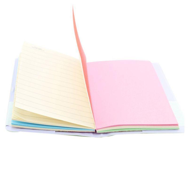 100 Bla E5U8 Lederhuelle Memo Charmante tragbar Mini Smiley Tagebuch Notizbuch