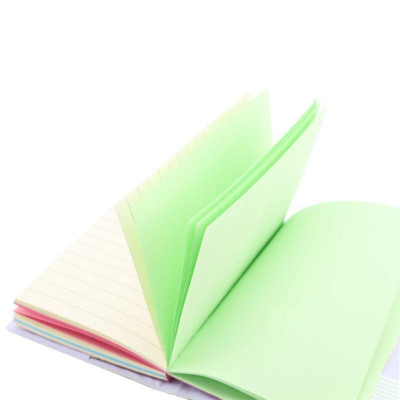 100 Bla E5U8 Memo Charmante tragbar Mini Smiley Tagebuch Notizbuch Lederhuelle