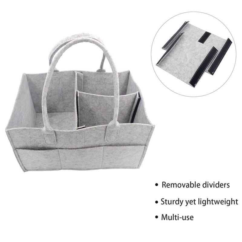 Nursery Storage Bin-Baby Diaper Caddy-Nursery Wipes Storage Bag-Portable Ba X0X8