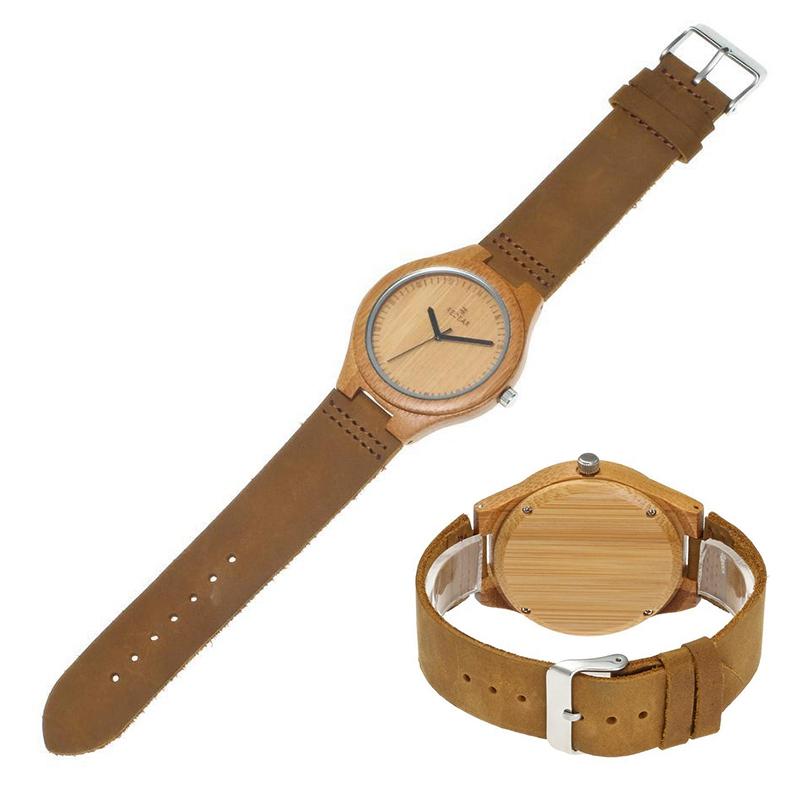 REDEAR-Reloj-madera-bambu-para-hombre-con-movimiento-cuarzo-cuero-genuino-O5S6