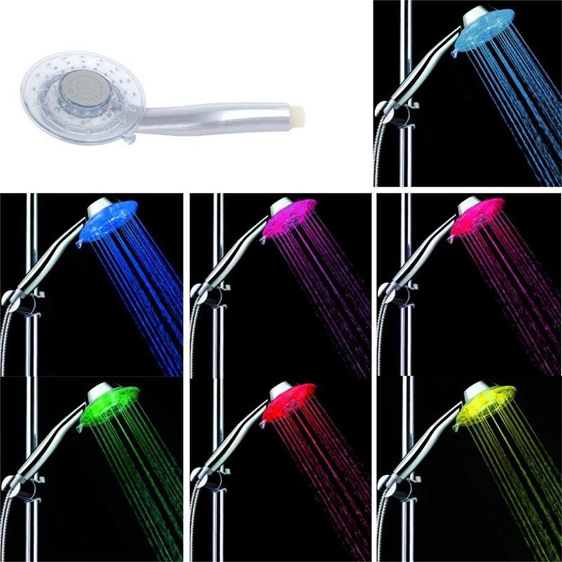 Cabezal de ducha LED, 7 luces LED de colores Cambio de cabezal de ...