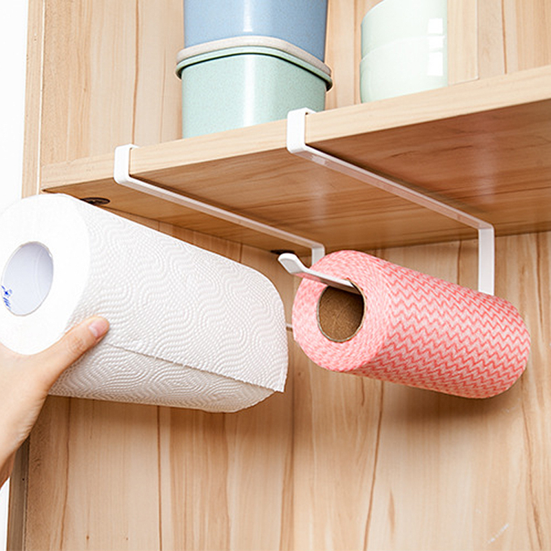 2pcs Paper Towel Holder Dispenser Under Cabinet Paper Roll Holder