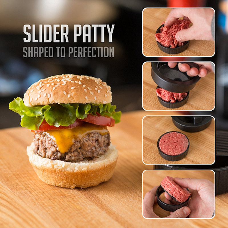 3 en 1 Prensa rellena Molde de hamburguesa empanada carne pastel plastico antiC5