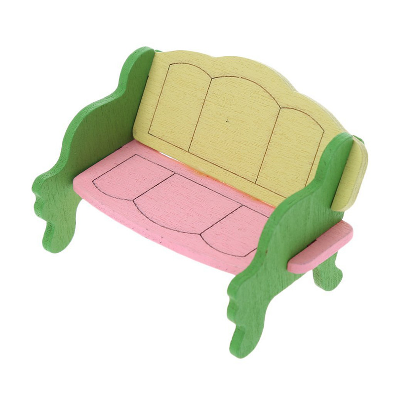 1 juego Muebles casa munecas madera para los Bebes Juguetes en ...