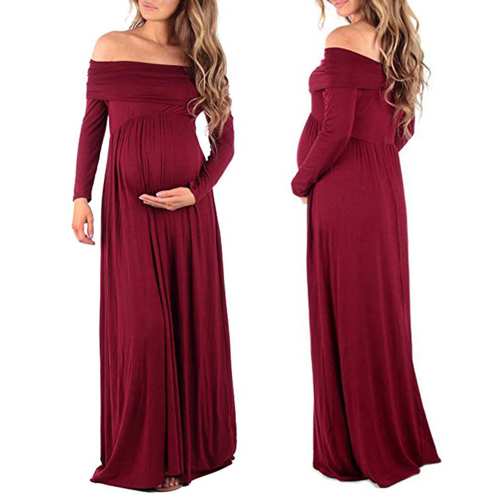 Maternity Dress Maternity Photography Props Dresses Off Shoulder ...
